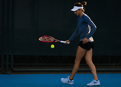 September 29, 2018 - Caroline Garcia of France practices at the 2018 China Open WTA Premier Mandatory tennis tournament (Credit Image: © AFP7 via ZUMA Wire)