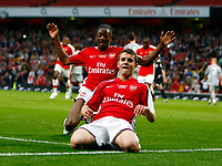 Jack Wilshere of Arsenal celebrates his goal. . FA Cup 1st Leg Arsenal Youth v Liverpool Youth at Emirates  22/05/2009 Credit Colorsport / Kieran Galvin