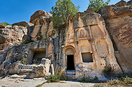 """Pictures & images of Kalburlu (St. Epthemios) church, 9th century, the Vadisi Monastery Valley, """"Manastır Vadisi"""",  of the Ihlara Valley, Guzelyurt , Aksaray Province, Turkey. .<br /> <br /> If you prefer to buy from our ALAMY PHOTO LIBRARY  Collection visit : https://www.alamy.com/portfolio/paul-williams-funkystock/vadisi-monastery-valley-turkey.html<br /> <br /> Visit our TURKEY PHOTO COLLECTIONS for more photos to download or buy as wall art prints https://funkystock.photoshelter.com/gallery-collection/3f-Pictures-of-Turkey-Turkey-Photos-Images-Fotos/C0000U.hJWkZxAbg"""