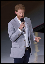 October 1, 2017 - Toronto, Canada - Image licensed to i-Images Picture Agency. 30/09/2017. Toronto, Canada.  Prince Harry speaking  at the closing ceremony of the  Invictus Games in Toronto, Canada.  Picture by Stephen Lock / i-Images (Credit Image: © Stephen Lock/i-Images via ZUMA Press)