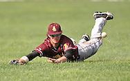 Avon Lake vs Amherst varsity high school baseball at The Pipe Yard in Lorain, Ohio on May 24, 2013..© David Richard