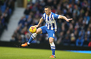 Brighton central midfielder, Andrew Crofts (8) during the Sky Bet Championship match between Brighton and Hove Albion and Wolverhampton Wanderers at the American Express Community Stadium, Brighton and Hove, England on 1 January 2016.