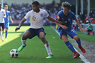 *** during the UEFA European Under 17 Championship 2018 match between England and Italy at the Banks's Stadium, Walsall, England on 7 May 2018. Picture by Mick Haynes.