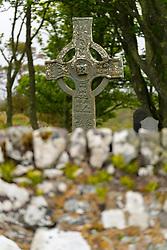 Kildalton High Cross at Kildalton Old Parish church on Islay, Inner Hebrides, Scotland UK