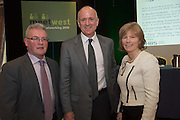 20/11/2014  repro free    <br /> Vincent Campbell Director National Procurement Service,  Dr. Emer Mulligan, Head of J.E Cairnes School of Business & Economics, NUI Galway at the Galway Bay Hotel for the two conference Meet West attracting over 400 business people from around Ireland for the largest networking event in the Country . Photo:Andrew Downes