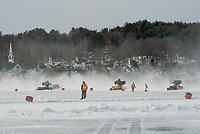 Nostalgic Latchkey Cup car racing on Meredith Bay.   Karen Bobotas for the Laconia Daily Sun