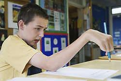 Pupil with brain injury,