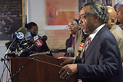 Rev Al. Sharpton at The Rev. Al Sharpton and The National Action Network announcement of plans and strategies for political boycotts, demonstrations and civil disobedience in response to Sean Bell Not Guilty Verdict held at 1199 SEIU on April 29, 2008