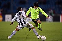 Udine 7/12/2005 Champions League Group C Matchday 6<br /> <br /> Udinese Barcellona 0-2<br /> <br /> Deco Barcellona and Valerio Bertotto Udinese<br /> <br /> Photo Andrea Staccioli Graffiti
