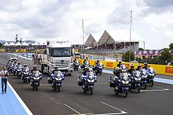 June 24, 2018 - Le Castellet, France - Motorsports: FIA Formula One World Championship 2018, Grand Prix of France, .Gendarmerie (Police) during F1 drivers parade  (Credit Image: © Hoch Zwei via ZUMA Wire)