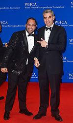 CNN Producer Noah Gray (L) and CNN Correspondent Jim Acosta arrive for the White House Correspondents' Association (WHCA) dinner in Washington, D.C., on Saturday, April 29, 2017 (Photo by Riccardo Savi)  *** Please Use Credit from Credit Field ***