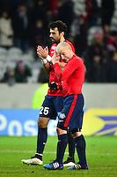 Deception Florent BALMONT / Marko BASA - 03.02.2015 - Lille / Paris Saint Germain - 1/2Finale Coupe de la Ligue<br />Photo : Dave Winter / Icon Sport