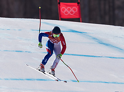 February 17, 2018 - PyeongChang, South Korea - JENNIFER PIOT of France during Alpine Skiing: Ladies Super-G at Jeongseon Alpine Centre at the 2018 Pyeongchang Winter Olympic Games. (Credit Image: © Patrice Lapointe via ZUMA Wire)