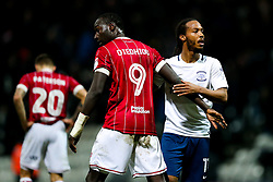 Famara Diedhiou of Bristol City congratulates Daniel Johnson of Preston North End after Preston North End win 2-1 - Rogan/JMP - 06/03/2018 - Deepdale - Preston, England - Preston North End v Bristol City - Sky Bet Championship.