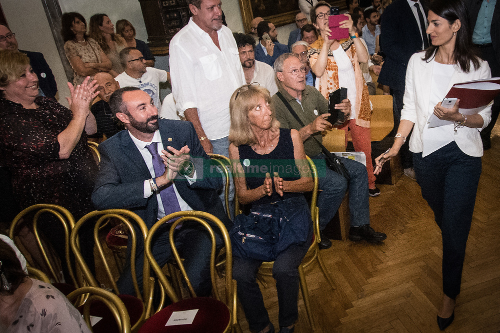June 21, 2017 - Rome, Italy, Italy - The Mayor of Rome Virginia Raggi during the press conference on #ROMARINASCE one  year of results and future objective. (Credit Image: © Andrea Ronchini/Pacific Press via ZUMA Wire)