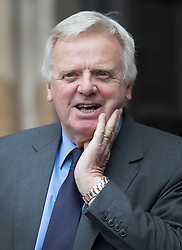 © Licensed to London News Pictures. 27/09/2016.  Michael Grade leaves Westminster Abbey after attending a Service of Thanksgiving for the Life and Work of Sir Terry Wogan . Veteran broadcaster Sir Terry Wogan died in January 2016. The Irish star had a long and successful career at the BBC, including stints on  radio and TV. London, UK. Photo credit: Peter Macdiarmid/LNP