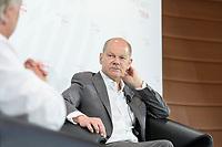 """08 JUN 2021, BERLIN/GERMANY:<br /> Olaf Scholz, SPD, Bundesfinanzminister, Wirtschaftskonferenz, Wirtschaftsforum der SPD """"Post-Coronomics - Transformation, Wachstum, Beschäftigung"""", Axica Kongresszentrum<br /> IMAGE: 20210608-01-040"""