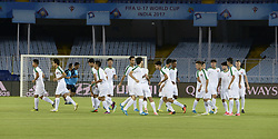 October 7, 2017 - Kolkata, West Bengal, India - Players of the Iraq football team during a practice session ahead of FIFA U 17 World Cup India 2017  in Kolkata. (Credit Image: © Saikat Paul/Pacific Press via ZUMA Wire)