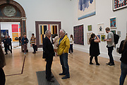 DILLWYN SMITH, STEPHEN CHAMBERS, Non Members Varnishing Day, Royal Academy of art Summer Exhibition. Piccadilly. London. 31 Nay 2019