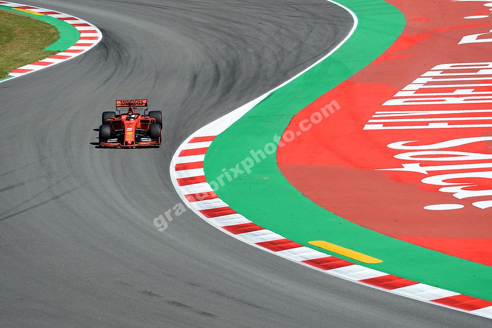 Sebastian Vettel (Ferrari) during practice before the 2019 Spanish Grand Prix at the Circuit de Barcelona-Catalunya. Photo: Grand Prix Photo