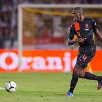 Netherlands' Bruno Martins Indi kicks the ball during a World Cup 2014 qualifying soccer match Hungary playing against Netherlands in Budapest, Hungary on September 11, 2012. ATTILA VOLGYI