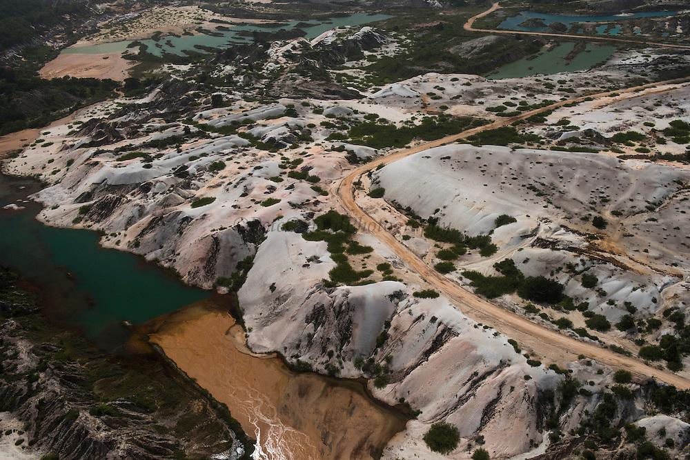 Bauxite mine<br /> Linden town<br /> GUYANA<br /> South America