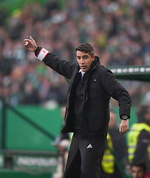 LISBON, Feb. 4, 2019  Benfica's head coach Bruno Nascimento gestures during the Portuguese League soccer match between SL Benfica and Sporting CP in Lisbon, Portugal, Feb. 3, 2019. Benfica won 4-2. (Credit Image: © Xinhua via ZUMA Wire)