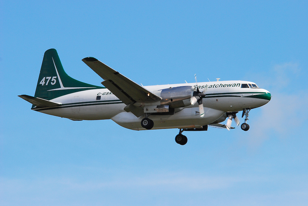 C-GSKQ Saskatchewan waterbomber Convair 580A