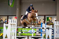 Bonny Tom, BEL, Hocus Pokus vd Lucashoeve<br /> Klasse Zwaar<br /> Nationaal Indoor Kampioenschap Pony's LRV <br /> Oud Heverlee 2019<br /> © Hippo Foto - Dirk Caremans<br /> 09/03/2019