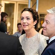 NLD/Utrecht/20160921 - inloop Openingsavond NFF 2016: première DE HELD, Femke Halsema en partner Robert Oey
