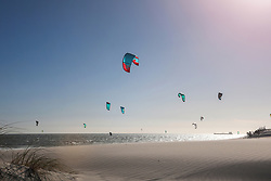 January 19, 2019 - Group of kite surfers mid air over sea, Cape Town, Western Cape, South Africa (Credit Image: © Bean Creative/Image Source via ZUMA Press)