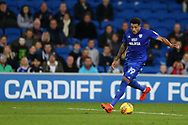 Nathaniel Mendez-Laing of Cardiff City in action. EFL Skybet championship match, Cardiff city v Ipswich Town at the Cardiff city stadium in Cardiff, South Wales on Tuesday 31st October 2017.<br /> pic by Andrew Orchard, Andrew Orchard sports photography.