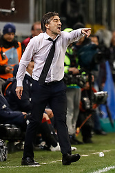 November 11, 2018 - Genoa, Italy - Genoa head coach Ivan Juric of Genoa gestures during the Lega Seria A match between Genoa CFC and SSC Napoli on November 10, 2018 at Stadio Luigi Ferraris in Genoa, Italy. (Credit Image: © Mike Kireev/NurPhoto via ZUMA Press)