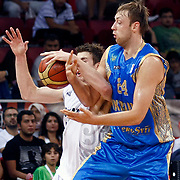 Ukraine's Oleksiy PECHEROV (R) during their Istanbul CUP 2011match played Ukraine between New Zeland at Abdi Ipekci Arena in Istanbul, Turkey on 25 August 2011. Photo by TURKPIX