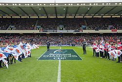 March 30, 2019 - Edinburgh, Scotland, United Kingdom - General view on Murrayfield Stadium during the Heineken Champions Cup Quarter Final match between Edinburgh Rugby and Munster Rugby at Murrayfield Stadium in Edinburgh, Scotland, United Kingdom on March 30, 2019  (Credit Image: © Andrew Surma/NurPhoto via ZUMA Press)
