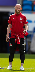 CARDIFF, WALES - Saturday, June 5, 2021: Wales' Jonathan Williams (L) on the pitch before an International Friendly between Wales and Albania at the Cardiff City Stadium in their game before the UEFA Euro 2020 tournament. (Pic by David Rawcliffe/Propaganda)