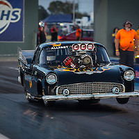 Tracey De Jager (2129) launches her 1955 Ford Thunderbird Supercharged Outlaw at the Perth Motorplex.