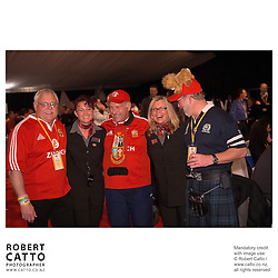 Lions Fans at the British & Irish Lions v. Auckland Blues Match at Eden Park, Auckland, New Zealand.<br />