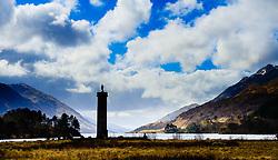 The Glenfinnon Monument located at the head of Glen Shiel, West Highlands, Scotland.<br /> <br /> (c) Andrew Wilson | Edinburgh Elite media