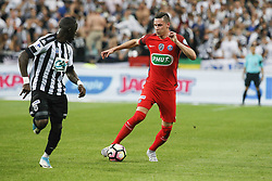 May 27, 2017 - Saint-Denis, Paris, France - Paris Saint-Germain's German forward Julian Draxler (R) vies with Angers' French defender Issa Cissokho (L) during the French Cup final football match between Paris Saint-Germain (PSG) and Angers (SCO) on May 27, 2017, at the Stade de France in Saint-Denis, north of Paris. (Credit Image: © Geoffroy Van Der Hasselt/NurPhoto via ZUMA Press)