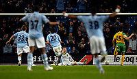 Photo: Jed Wee/Sportsbeat Images.<br /> Manchester City v Norwich City. Carling Cup. 25/09/2007.<br /> <br /> Manchester City's Georgios Samaras (20) scores in injury time to give City a narrow win.