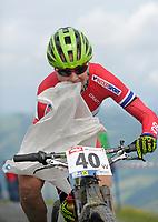 Sykkel <br /> 29.06.2013<br /> Kirchberg Østerrike<br /> Foto: Gepa/Digitalsport<br /> NORWAY ONLY<br /> <br /> UCI Weltmeisterschaften Marathon. Bild zeigt Gunn-Rita Dahle Flesjå (NOR)