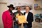 August 15, 2019:  Monterey Car Week, Skyler Grey, Aventador S artist, Stefano Domenicali, CEO of Lamborghini