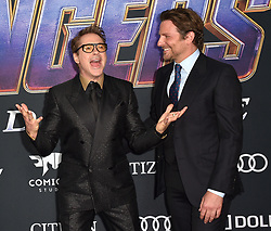 Bradley Cooper, Robert Downey Jr. attend the world premiere of Walt Disney Studios Motion Pictures 'Avengers: Endgame' at the Los Angeles Convention Center on April 22, 2019 in Los Angeles, CA, USA. Photo by Lionel Hahn/ABACAPRESS.COM
