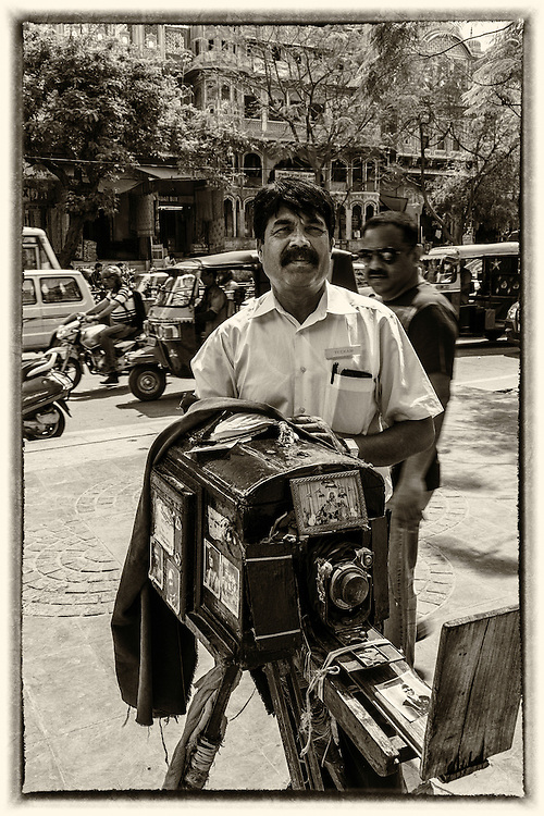 A street photographer in Jaipur, India. Tikam Chand in Jaipur, could be the last practicing street portraitist in India  today. He is the third generation that is taking the family profession forward. It is a profession that his family has sustained for 95 years.