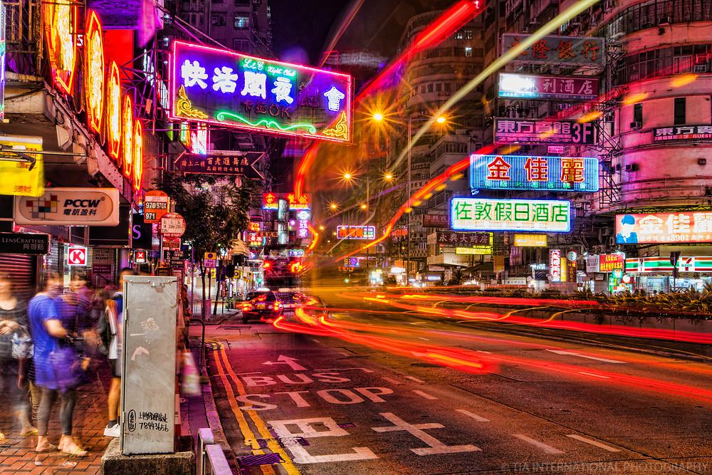 Jordan Road @ Night, Yau Ma Tei, Kowloon