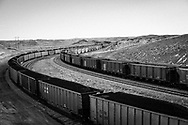 135 trains with an average of 150 cars each leave the Powder River Basin daily carrying coal across the United States.