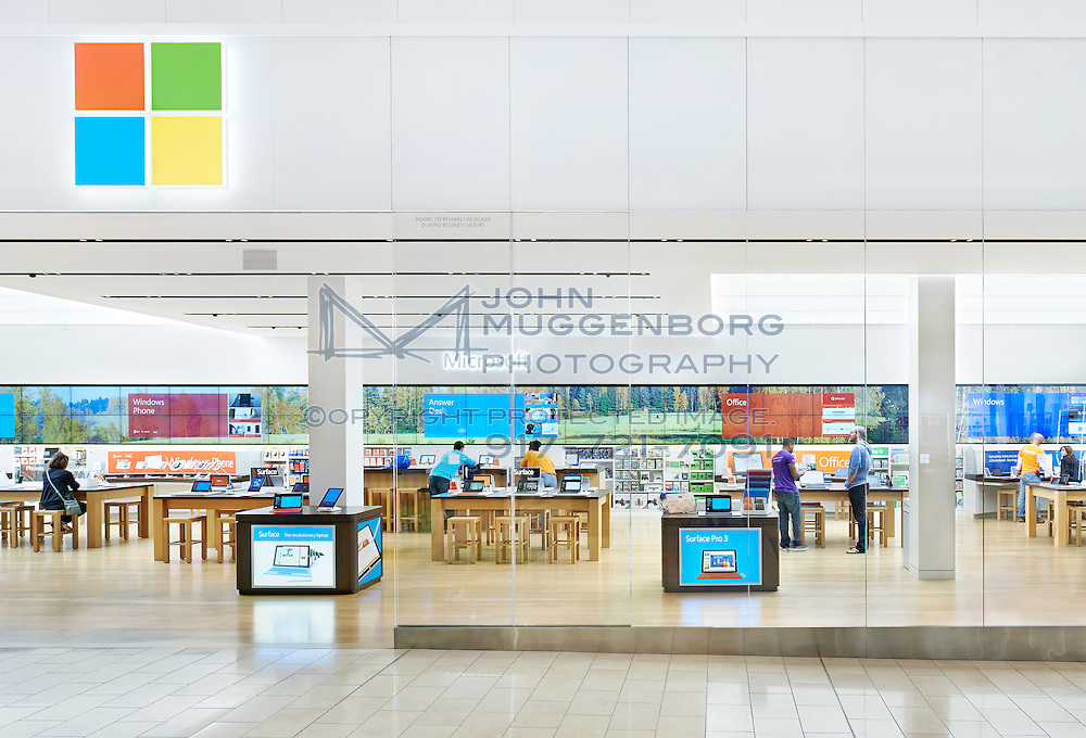 Microsoft retail store at the Westfield Garden State Plaza Mall in New Jersey photographed by John Muggenborg.