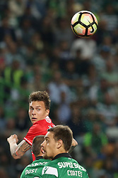 April 22, 2017 - Lisbon, Portugal - Benfica's Swedish defender Victor Lindelof in action during the Portuguese League football match Sporting CP vs SL Benfica at the Alvadade stadium in Lisbon on April 22, 2017. (Credit Image: © Pedro Fiuza/NurPhoto via ZUMA Press)