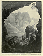 "View from the Turquoise Mines of Magharah [Wadi Maghareh (also spelled Maghara or Magharah, meaning ""The Valley of Caves"" ] Wood engraving of from 'Picturesque Palestine, Sinai and Egypt' by Wilson, Charles William, Sir, 1836-1905; Lane-Poole, Stanley, 1854-1931 Volume 4. Published in 1884 by J. S. Virtue and Co, London"
